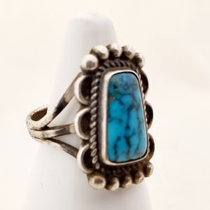 Jewelry - Handcrafted Turqouise & Silver Ring Size 5 1/2